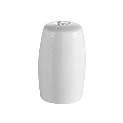 "CAC BSTPS 2.5"" Boston Pepper Shaker - Embossed Porcelain, Super White"