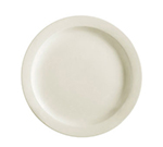 "Cac International NRC8 9"" NRC Dinner Plate - Narrow Rim, Ceramic, American White"