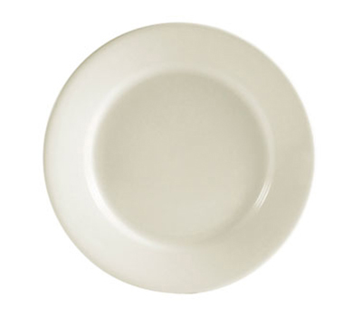 "Cac International REC6 6.5"" REC Bread Plate - Ceramic, American White"
