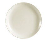 "CAC International REC6C 6.5"" REC Coupe Bread Plate - Ceramic, American White"