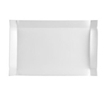 "Cac International TMS51 Times Square Rectangular Platter - 15-1/2x10x1-5/8"" Porcelain, Super White"