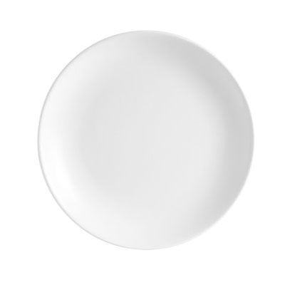 "CAC COP16 10"" Coupe Dinner Plate - Porcelain, Super White"