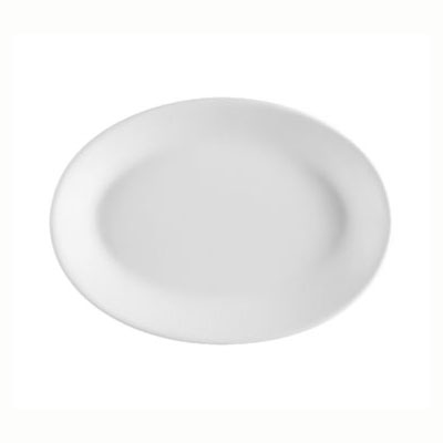 CAC FR-13 European White Rolled Edge Platter, Franklin, Oval