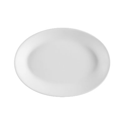 CAC FR-14 European White Rolled Edge Platter, Franklin, Oval