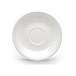 CAC FR-2 European White Rolled Edge Saucer, Franklin, Round