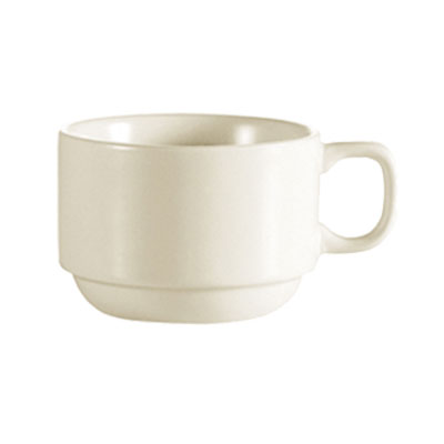 CAC FR-23 European White Coffee Cup, Franklin, Round