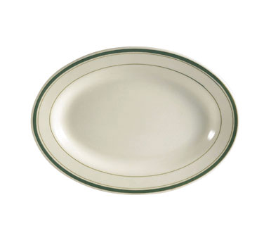 CAC GS-34 Greenbrier Platter - Plain, (3) Green Bands