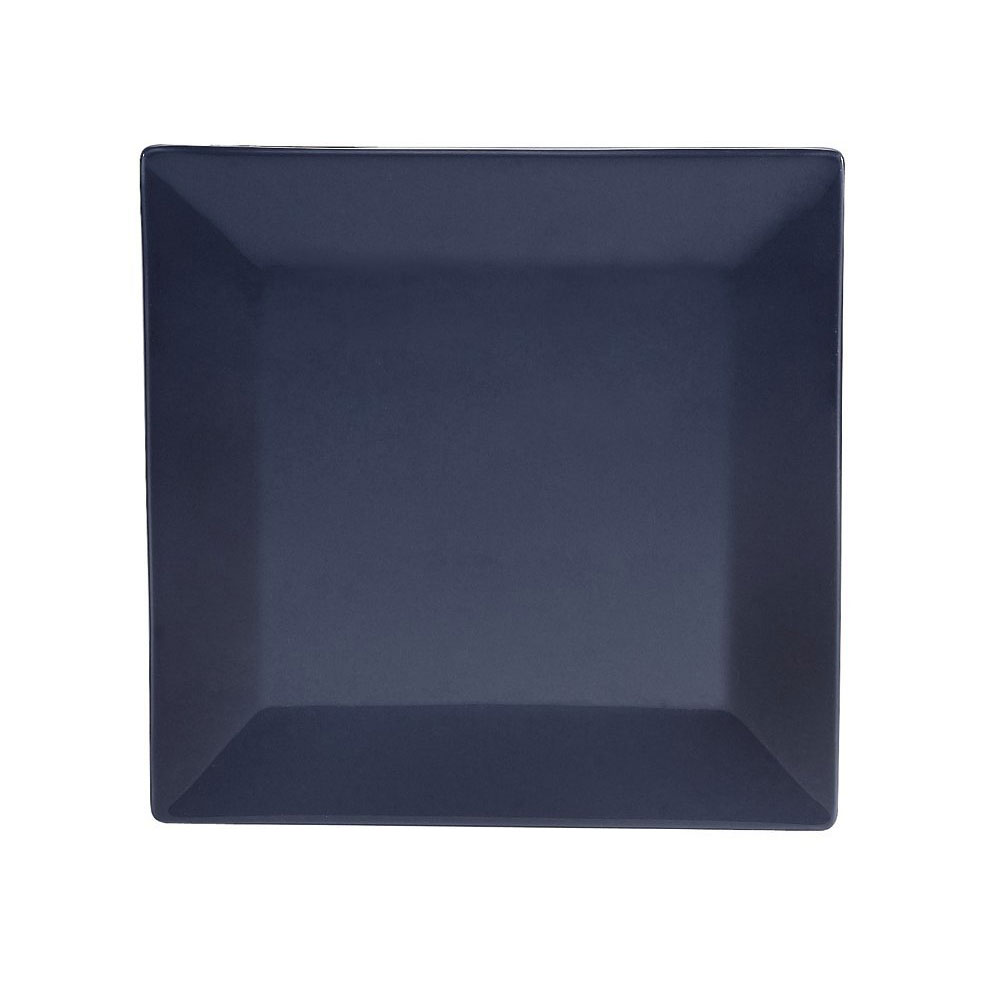 "CAC KC-16-CBU 10"" Square Color Arts Dinner Plate - Ceramic, Cobalt Blue"