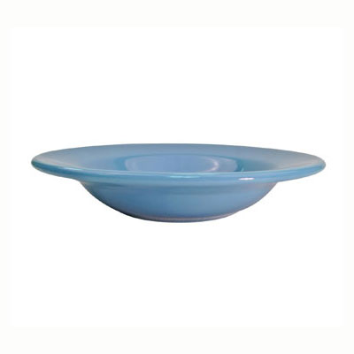 CAC LV-120-LBU Light Blue Rolled Edge Pasta Bowl, Las Vegas, Round