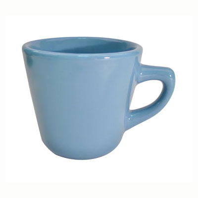 CAC LV-1-LBU Light Blue Rolled Edge Coffee Cup, Las Vegas, Round