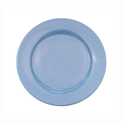 CAC LV-9-LBU Light Blue Rolled Edge Dinner Plate, Las Vegas, Round