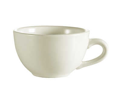 Cac International NRC1 7-oz NRC Coffee Cup - Ceramic, American White