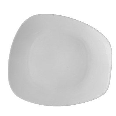 """CAC OAK-16 Oak Trapezoid Plate - 10.5"""" x 9.25"""", Porcelain, New Bone White"""