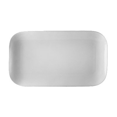 "CAC OXF-C14 Oxford Platter - 13.5"" x 7.5"", Porcelain, New Bone White"