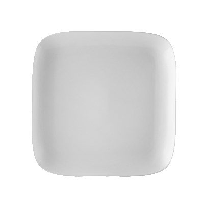"CAC OXF-C16 10"" Square Oxford Plate - Porcelain, New Bone White"