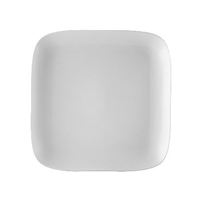 "CAC OXF-C20 11.38"" Square Oxford Plate - Porcelain, New Bone White"