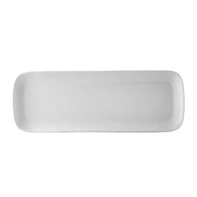 "CAC OXF-C441 Oxford Long Tray - 14"" x 4"", Porcelain, New Bone White"