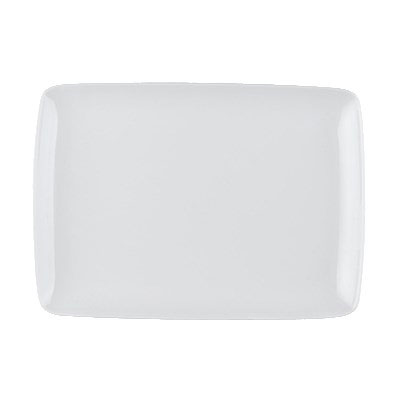 "CAC OXF-W13 Rectangular Oxford Platter - 11.63"" x 8.25"", Porcelain, Super White"