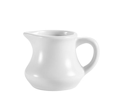 CAC PC4 4-oz Accessories Creamer with Handle - 4-oz, Porcelain, Super White