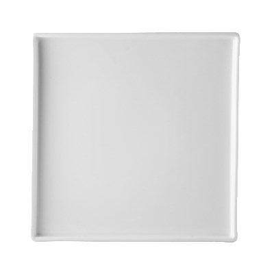 """CAC PLC-21 12.5"""" Palace Square Plate - Porcelain, New Bone White"""