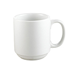 CAC PRM10P 10-oz Prime Mug - Stacking, Porcelain, Super White