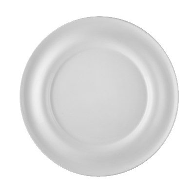 "CAC PS-E21 12.63"" Round Eiffel Dipping Plate - Porcelain, New Bone White"