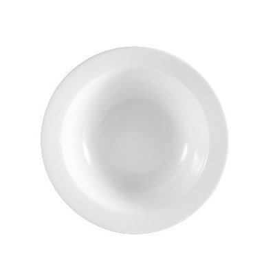 CAC RCN-10 Super White Rolled Edge Grapefruit Bowl, Clinton, Round