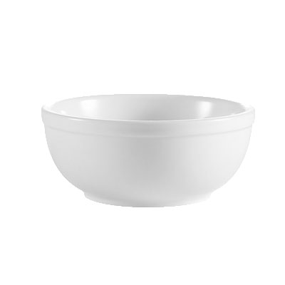 CAC International RCN15 12.5-oz Clinton Nappy Bowl - Rolled-Edge Porcelain, Super White