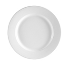 "Cac International RCN16 10.5"" Clinton Dinner Plate - Rolled-Edge Porcelain, Super White"