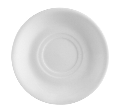 CAC RCN2 Super White Rolled Edge Saucer, Clinton, Round