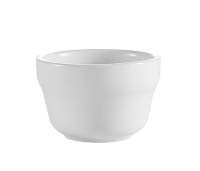 CAC RCN-4 Super White Rolled Edge Bouillon Cup, Clinton, Round