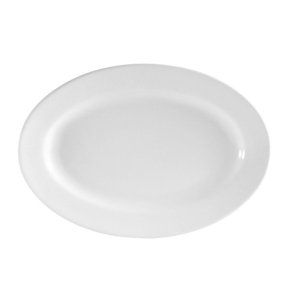 "CAC RCN-61 Oval Platter - 16"" x 10.88"", Porcelain, Super White"