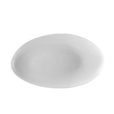 "CAC RCN-EP13 Egg-Shaped Platter - 11.5"" x 6.75"", Porcelain, Super White"
