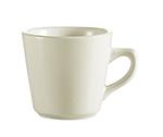 CAC International REC1 7-oz REC Coffee Cup - Ceramic, American White
