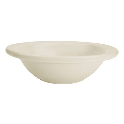 CAC REC-10 American White Rolled Edge Grapefruit Bowl, REC, Round