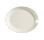 "CAC International REC13C 11.5"" REC Coupe Oval Platter - Ceramic, American White"