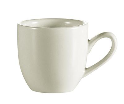 "CAC International REC35 2.5"" REC Demitasse Cup - Ceramic, American White"