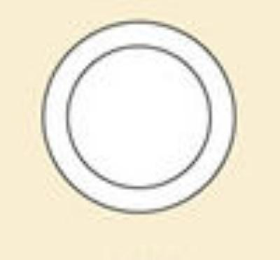 "CAC International LV-9-LBU 9.75"" Las Vegas Dinner Plate - Rolled-Edge Ceramic, Light Blue"