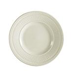 CAC RID-6 American White Rolled Edge Plate, Ridgemont, Round