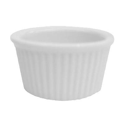 CAC RKF234W 2.75-oz RKF Ramekin - Fluted, Porcelain, Super White