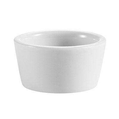 CAC RKF2P 2-oz RKF Ramekin - Porcelain, Super White