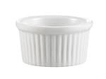 CAC RKF4 4-oz RKF Ramekin - Fluted, Porcelain, Super White