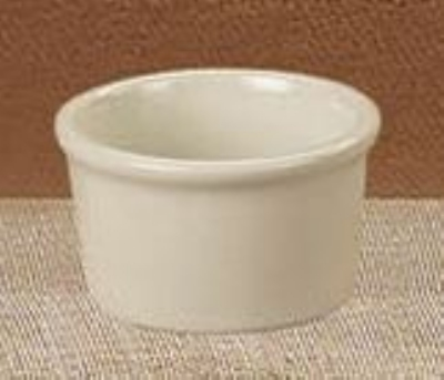 Cac International RKF-6-AW 6-oz RKF Ramekin - Ceramic, American White