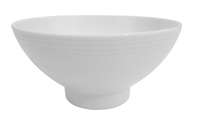 "Cac International SHA45 5.8"" Sushia Rice Bowl - Porcelain, Super White"