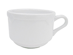 Cac International TMS1 8-oz Times Square Coffee Cup - Porcelain, Super White