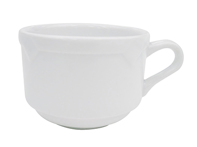 CAC TMS1 8-oz Times Square Coffee Cup - Porcelain, Super White