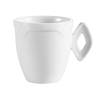 CAC International TMS35 Demitasse Cup, 3.5 oz, Time Square Pattern, White TMS35