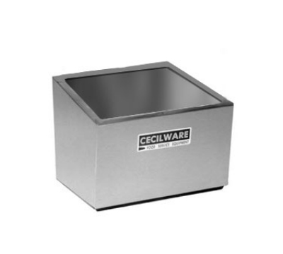 Cecilware 244 Non-Insulated Condiment Well Only w/ (2) Jar Capacity, Stainless