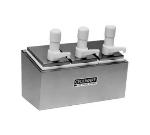 Grindmaster - Cecilware 344S Pump Style Condiment Dispenser w/ (3) 1-oz/Stroke, Stainless