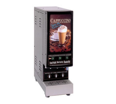 Grindmaster - Cecilware 3K-GB-LD Cappuccino Dispenser, 3-Flavor Manual Dispense, Lighted Sign